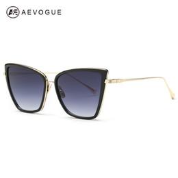 Argentina Venta al por mayor-AEVOGUE Gafas de sol para mujer Sunbird Nueva alta calidad Cat Eye Metal Frame Gafas de sol Diseñador de la marca UV400 AE0363 cheap wholesale eye glasses frames Suministro