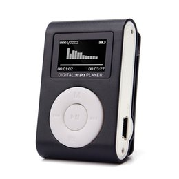 Wholesale Mini Clip Mp3 1gb - Wholesale- Mini USB Clip MP3 Player LCD Screen Support 32GB Micro SD TF Card Portable High Quality Wholesale Music players MP3 Suppion