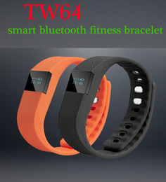 Wholesale Fit Italian - TW64 Bluetooth 4.0 Fitness Activity Tracker Smart Band Wristband Pulsera Inteligente Smart Bracelet Not Fitbit Flex Fit Bit android ios