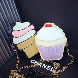 Creme per ragazze online-Borsa a tracolla bambina Borsa piccola a tracolla moda bambina Principessa Mini borsa per il trucco gelato