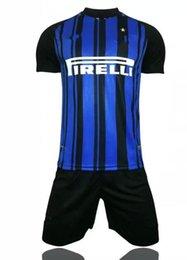 Wholesale Top Quality Velour - Top thai quality 17 18 Inter home soccer jersey 17 18 JOVETIC ICARDI PALACIO KONDOGBIA MEDEL CANDREVA Jovetic away Milan football shirt