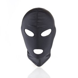 Wholesale Mask Sex Parties - Lightweight Strong Elastic Spandex Mask hood Fetish Fantasy Headgear Harness Cosplay Party Mask Adult Game Sex Toys ZA2650
