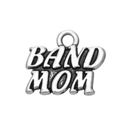 mom band Promo Codes - High Quality Stainless Steel Metal Letter Band MOM Word Charms Jewelry for Women