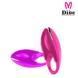 Wholesale Clitoris Penis - Dibei Rechargeable 20 Speed Vibrating Cock Rings Penis Sleeve Cockring Sex Products For Men Penis And Women Clitoris Stimulator