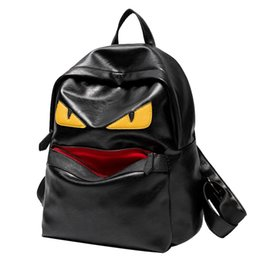 Wholesale Male School Bags - monster backpack designer leather backpack male fashion school bags for teenagers eye laptop backpacks women mochila leisure bag