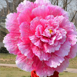 Wholesale Peony Crafts - 70cm Retro Chinese Peony Flower Umbrella Props Dance Performance Props Wedding Decoration Photograph Fancy Dress Umbrella ZA3484