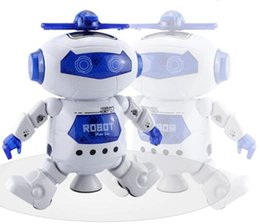 Wholesale Electric Music Rotating - 2017 manufacturers selling children's electric toys Hyun dance robot rotating light music explosion models 20cm