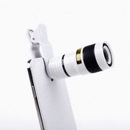 Wholesale Lenses For Mobile Phone Cameras - Universal 8X Optical Mobile phone Zoom Telescope Camera Lens Clip Mobile Phone Telescope For iPhone 6 plus for Samsung s6 note 5 for Huawei