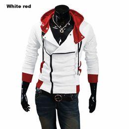 Wholesale Cardigan Jacket Assassins Creed - 12 Colors M-6XL Hoodies Men Sweatshirt Male Tracksuit Hooded Jacket Casual Male Hooded Jackets Moleton Assassins Creed