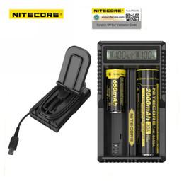 cargador sony vtc4 Rebajas 100% original Nitecore UM20 18650 Cargador de batería de litio USB Pantalla LCD Digicharger para 17500 14500 Baterías de ion de litio de carga