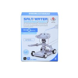 Wholesale Water Powered Toys - 2017 YearChildren's puzzle assembly salt water power robot DIY creative science and education toys