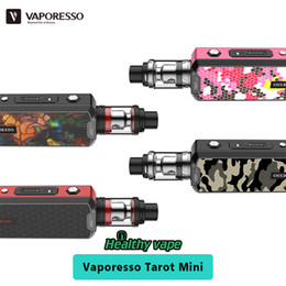 Wholesale Tank Universal - Original Vaporesso Tarot Mini Starter Kit 80w Vape TC Box Mod & 2ml Veco Tank Atomizer with Eco Universal Coil update Vaporesso Tarot Nano