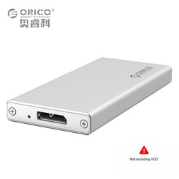 Wholesale Portable Ssd Hdd - Wholesale- ORICO MSA-U3 Aluminum Micro B mSATA 3.0 2.0 Portable Mobile HDD Case Box for 1.8 inch SSD - (Not including the hard drive)