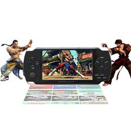 Wholesale Mp5 Camera Tv Out - 8GB 4.3 Inch PMP Handheld Game Player MP3 MP4 MP5 Player Video TF FM Camera Portable Game Console Free 2000 Games With Retail Box