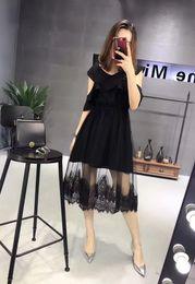 Wholesale Design Arm Sleeve Dresses - Genuine flounce cross design exposed arm rubber waist mosaic small sexy dress temperament.