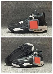 Wholesale Rhinestone Prices - New Arrival 2017 Air Retro 4 Oreo Blacktech Grey-Black Men and Women Basketball Shoes Best Real Leather Hot Newest Discount Price