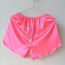 Wholesale Calcinha Plus Size - Sexy Women Underwear Shorts Satin Panties Artificial Silk Homme Boyshorts Underwear Ladies Intimates Calcinha Plus Size free shipping