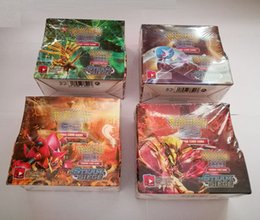 Wholesale Card Games Wholesale - 324pcs lot Free DHL Poke go Trading Cards Games Steam Seige English Edition Anime Pocket Monsters Cards Toys B