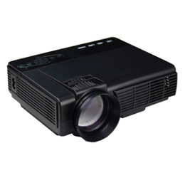 Wholesale Brand Projector - Wholesale-Brand Projector 1000 Lumens LED Projector Home Theater USB TV 3D HD 1080P Business VGA HDMI AC Power Cable Remote Control #205