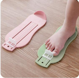 Wholesale Baby Feet Ruler Kid Infant Foot Measure Gauge Shoes Size Measuring Ruler Tool Baby Child Shoe Toddler Infant Shoes Fittings Gauge