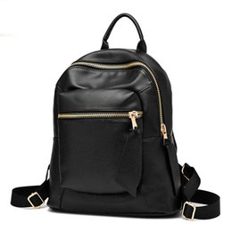 Wholesale Leather Laptop Bags For Women - 2017 new High quality Leather Backpack Women School Bags for Teenagers Laptop Notebook Travel Fashion Backpack
