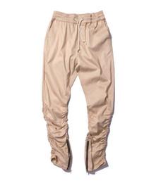 Wholesale Korean Hip Hop Pants - Korean Hip Hop Fashion Pants With Zippers Factory Connection Mens Urban Clothing Joggers Fear of god Men Pants