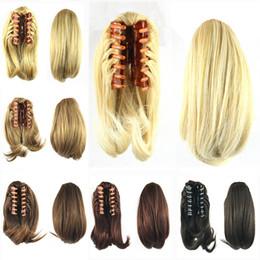 Canada ponytail bun hair extension supply ponytail bun hair wholesale 90g hair ponytails with clip hair bun synthetic hair ponytail pmusecretfo Images