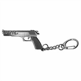 Wholesale Pistol Desert Eagle - Fashion Simulation Desert Eagle Pistol Keychain 3D Gun Key Chain Ring Holder Unisex Weapons Keychains Jewelry Factory Outlet