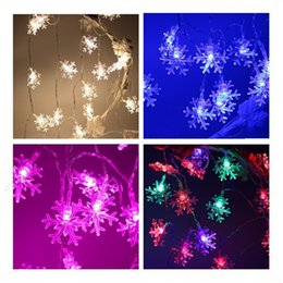 Wholesale Snow String Lights - New Decoration Christmas String Snow-like Lights Colorful Lamps Holiday Party Lightings Different Size Free Shipping from idea