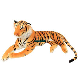 Wholesale Play Tiger - Dorimytrader High Quality 105cm Large Lifelike Emulational Animal Tiger Plush Toy School Photography Props Kids Play Doll DY61592