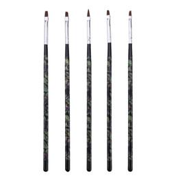 Wholesale Extensions Pen - Wholesale- 5pcs Nail Art Line Paint Flower Flower Draw Brush Set Acrylic UV Gel Polish Extension Building Manicure Pedicure Pen Kit