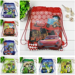 Wholesale Black Men String - 2017 Boys backpack school bag birthday gift mochila drawstring bag for kids cartoon The Dog non-woven fabric backpack mochila