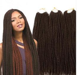 Wholesale Free Weave Hair Packs - free shipping 30strands Each Pack 70gram Havana Mambo Twist Crochet 18inch Ombre Senegalese Twist Hair Crochet Jumbo Ombre Braid Hair Twist