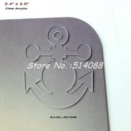 """Wholesale Clear Blank Acrylic - Wholesale-(20pcs lot) 76mm Blank Clear Acrylic Anchor Necklace Laser Cut Save the Date Charms 3""""-AC1049"""