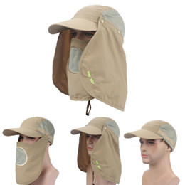 Wholesale Uv Hat Neck Protection - Climbing Waterproof Fishing Hat Sun UV Protection Summer Bucket Hat Neck Face Curtain Cycling Breathable Visors