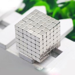 Wholesale Neo Silver - 216PCS ,5mm Silver Neodymium Square Magnetic ,Block Neo Magic Cube Magnetic Puzzle NeoKub OF Magnetic Beads With Metal Box