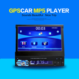 Wholesale Gps Navigator Touch Screen - Car Navigator 7 inch universal car DVD car DVR retractable screen Bluetooth GPS
