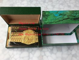 Wholesale Paper For Cards - Free Shipping 5pcs High Quality Brand Watch Box Papers File Card Green Gift Boxes For ETA 2836 3135 7750 116610 116660 116520 116500 Watches