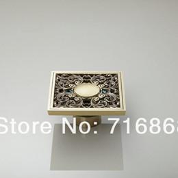 Wholesale Bathroom Accessories Floor Drain - e-pak L5400 Antique Brass Rose Golden Bathroom Floor Drain Faucet Accessory Floor Drain Shower Faucet Accessories
