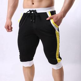 Wholesale Wholesale Designer Boxer Shorts - Wholesale- XXL Brand Men Fashion Shorts Cotton Beach Boxer Sexy Wear Baseball capri Designer Shorts New Trunks FX1023