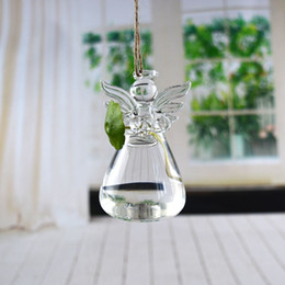 Wholesale Modern Tabletop Decor - Angel Vase Hand Made Creative Floral Transparent Glass Hydroponic Container Valentine Day Gift Fashion Home Decor Hot Sale 6jh F