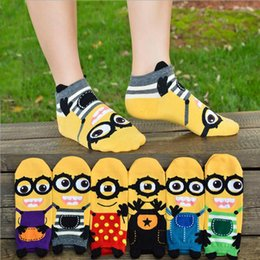 Wholesale Korean Fashion Slippers - Women's socks Cotton socks fashion 3D printing cartoon knitted small yellow Sock Slippers Korean version 71