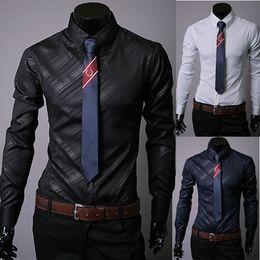 Wholesale Shirt Korea Import - 2017 New South Korea imported dark grain twill fabrics men long sleeve shirt 2080 no necktie
