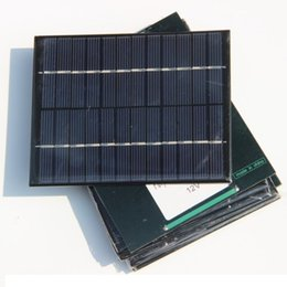 Wholesale High Quality Solar Charger - High quality 12V 2W 160mA Polycrystalline silicon Mini Solar Panel module Cell For Charger DC Battery DIY 136x110mm