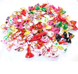 Wholesale Hair Flower Clip Supplies - Handmade Accessories For Dogs Fashion and new Hair Bows Hair Clip Pet flower Cat grooming supplies Headdress IA500