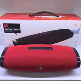 Wholesale Wholesale Boost Mobile Phones - 10W BOOST mini TV wireless Bluetooth speaker HIFI mini super brass portable outdoor TF U disk war drum nice sound