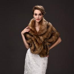 Wholesale Stole Shawl Evening Wrap - Faux Fur Bridal Jacket Shawl Bolero Stole Bolero De Piel High Quality Luxury Women's Evening Party Dresses Accessories Cape