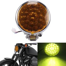 """Wholesale Universal Chrome Headlight - Universal Black Chrome Motorcycle 5"""" 30 LED Headlight Lamp For Harley Davison Cafe Racer Bobber 12v"""