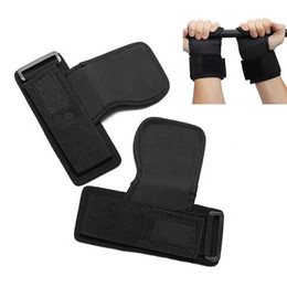 Wholesale Wholesale Wrist Strap Weightlifting - Wholesale- New Skid Gym Training Weight Lifting Straps Weightlifting Wraps Gloves Hand Bar Wrist Support Protection