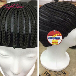 Wholesale Wholesale Wig Making Caps - making wig Tools Wig Caps cornrow croceht wig free shipping braided cap 70g synthetic made for crochet braids weave hair extension